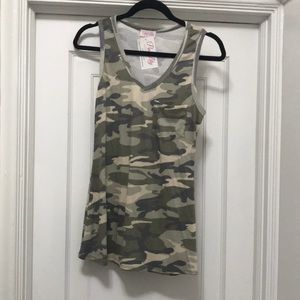 NWT Camo Tank from Pink Lilly Boutique